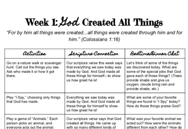 3 weeks of God-focused fall activities